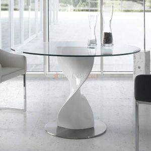 Mesa de comedor redonda cristal