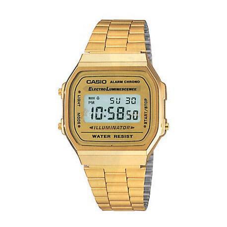 a168 fashion retro vintage digital casio dorado Reloj barato 80wmnN