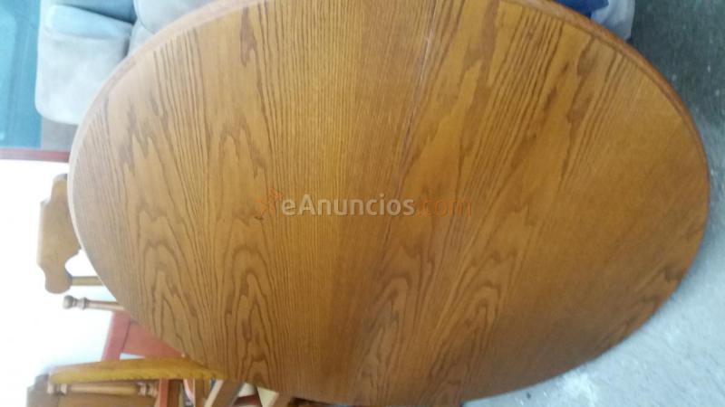 Mesa redonda de madera para comedor (638471) - eAnuncios.com