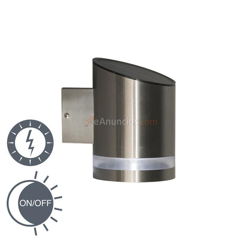 Ranex aplique cuba 1 solar led para exterior 1336065 for Aplique exterior solar led