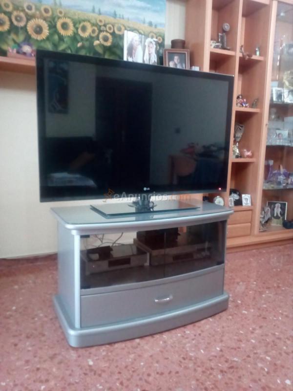 Mesa Para Tv Giratoria Y Con Ruedas Gris 1615749