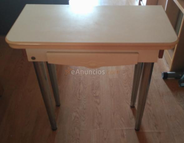 Mesa de cocina libro extensible color blanco 1689739 for Mesas cocina zaragoza